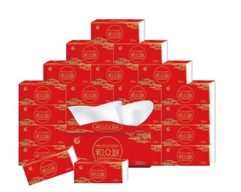 杨三宏福纸业 和众联抽纸30包