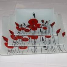 牵牛花玻璃餐具 耐高温环保
