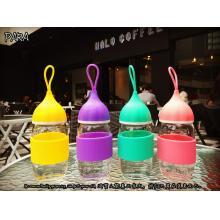 洋葱头创意小艾杯 硅胶套玻璃水杯 情侣随身水杯 广告促销礼品杯